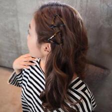 Women Geometric Triangle Round Leopard Hairpin Hair Clips Pins Hair Accessories3