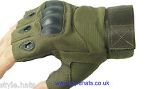 SALE Leather Gloves Fingerless Hunting Tactical Sniper Outdoor Sports Cycling