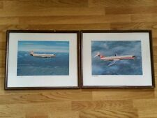 Vintage advertising air canada dc-9 framed poster original airplane