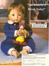 1996 McDonald's 2-Pg Print Ad Retro Vintage China Doll Advertisement 90s