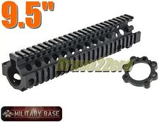 "Airsoft DD MK18 Style 9.5"" CNC RAS RIS Free Float Handguard for AEG BLACK"