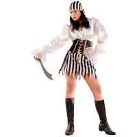 Ladies Pirate Theme Fancy Dress Costume Outfit Womens Hen Party Sexy Caribbean