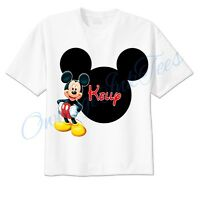 Mickey Mouse Mickey Ears Disney Custom T-shirt Personalize tshirt Birthday gift