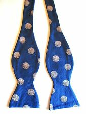 MAKER UNKNOWN - BLUE WITH SILVER GOLF BALL PRINT - ADJUSTABLE TO 18 INCH NECKS