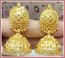 Traditional 24k Gold Plated South Indian Earrings Jhumka Jewelry Jewelery Set