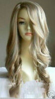 Fashion Long Mixed Blonde Wavy Heat-Resistant Cosplay Women Lady's Hair Wig/Wigs