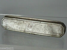Antique Georgian Silver Mother of Pearl Tooth Pick Box Toothpick MOP Case