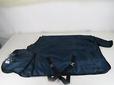 "80"" 600-D Turnout Waterproof Rain Horse SHEET Light Winter Blanket Gusset Navy"