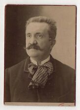 PHOTO ANCIENNE CABINET - Homme Portrait Moustaches NADAR Paris Vers 1900
