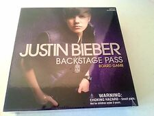Justin Bieber Backstage Pass Board Game- New