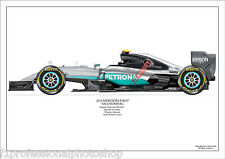 2016  Nico Rosberg Mercedes W07 ltd ed./250 signed & numbered by artist