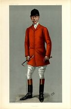 FOX HUNTER HORSEMAN TOMMY BURNS MASTER OF THE QUORN RED COAT FOX HUNTING BUGLE