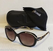women brown sunglasses by Just Cavalli model JC638 butterfly style with case