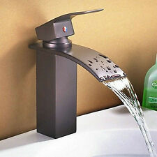 R Waterfall New Oil Rubbed Bronze Bathroom Black Faucet MJ8525