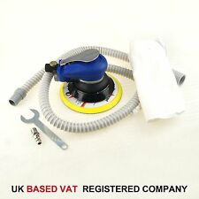 "Air Random Orbital Palm Sander 150mm 6"" Dual Action W Vacuum And Hose UK VAT"