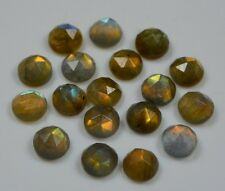AAA QUALITY 15 PC NATURAL LABRADORITE ROUND 8X8 MM ROSE CUT LOOSE GEMSTONE