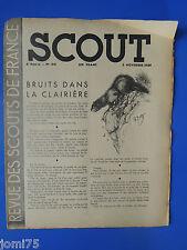 Rare SCOUT N° 140 Novembre 1939 REVUE DES SCOUTS DE FRANCE SCOUTISME plein air