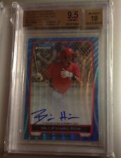 2012 Bowman Chrome Billy Hamilton Blue Wave Auto Rc Bgs 9.5 Rookie Autograph