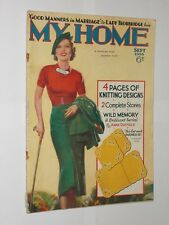 My Home Magazine Sept 1935. Vintage Sewing/Knitting/Cooking/Adverts/Stories.
