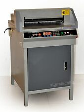 "450mm Paper Guillotine Cutter Stack Cutting Machine,17.7"" Electric"