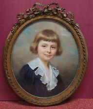 PORTRAIT du Jeune garçon Pierre Loyer de B......., PASTEL  de Marie D'EPINAY.