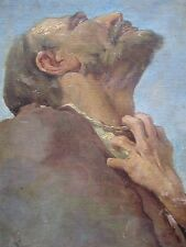 OLD MASTER ANTIQUE RELIGIOUS PORTRAIT OF A MAN POSSIBLY JOB