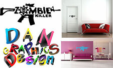 "47"" zombie killer vinyl decal sticker skull gun call of duty wall car window"
