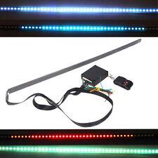 55cm 48 LED RGB Flash Car Knight Rider Light Strip Kit Waterproof 7 Color Remote