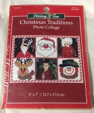 """Holiday Time Christmas Traditions Photo Collage Counted Cross Stitch Kit 5""""x7"""""""