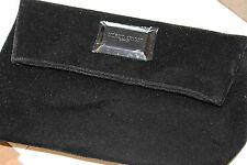 GIORGIO ARMANI NEW Black Velvet Clutch purse