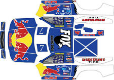 HPI BAJA 5SC TRUCK WRAP LOSI 5T 5IVE T RED BULL REPLICA DECAL KIT GRAPHICS
