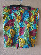 LOUDMOUTH MEN'S FRONDS KLAMMER SIZE 42 GOLF SHORTS (NWT)