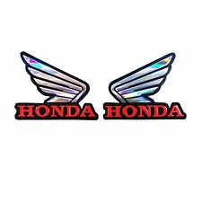 FOR HONDA WING FUEL TANK STICKER REFLECTIVE DECAL CBR FIREBLADE 250 600 1000 RR