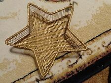 Decorative Star Shaped Wire and Whicker Christmas Basket