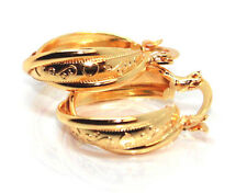 LADY PAIR 18CT YELLOW GOLD FILLED TWIST CREOLE EAR 8MM THICK EAR HOOPS EARRINGS