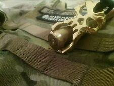 Skull Keychain Knuckle Self defense Glass breaker EDC GOLD