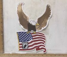 US Flag held by Eagle - POW*MIA Embroidered Back Patch
