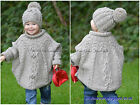 Knitting Pattern - Temptation Poncho and Hat Set (Toddler and Child sizes)