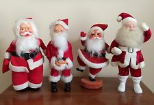 4 Vintage Santa Claus Figures 12-14 Inches Tall ~ Including Harold Gale Santa