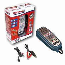 OPTIMATE 2 MOTORCYCLE BATTERY CHARGER OPTIMISER 12V MOTORBIKE GEL MF AGM SAE