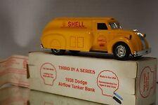 1938 Dodge Shell Airflow Tanker Coin Bank # 11700 1:25 ? Scale w Box SJ 17G