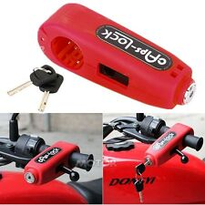 Red Handlebar  Brake Lever Lock For Harley Softail Electra Road Glide