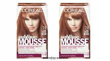 Lot of 2 New L'oreal Paris Sublime Mousse Dark Copper Blonde 74