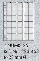 Numis coin pages - Numis 25. 5 sheets & white interleaving.