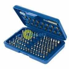 Quality Screwdriver Bit Set 100 Piece Pozi Phillips Slotted Hex Torx