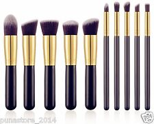 Premium Kabuki Makeup Brush Set - 10 Brushes + Storage Pouch k2