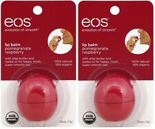 2 Pack EOS Evolution Smooth Pomegranate Raspberry Lip Balm Original USA 0.25 oz