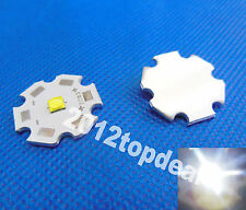 50pcs Cree XTE XT-E White LED + 20mm Star Base  1W 3W 5W led emitter 456lm@5W
