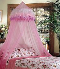 Superbuy Elegant Ruffle Lace Bed Canopy Mosquito Netting Dome Princess Baby Safe