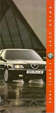 ALFA ROMEO  PRICE LIST April 1995, 145, 155, 164       *POST FREE UK *